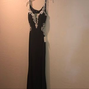 Black and Gold Backless (JASZ couture) Prom Dress